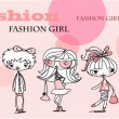 Fashion girls — Stockvektor
