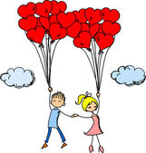 Girl and boy in love — Stock Vector
