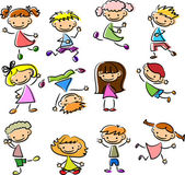 Set cartoon children — Stock Vector