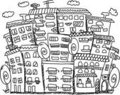Dom sztuki do projektowania — Wektor stockowy