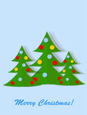 Christmas cards, the background — Vector de stock