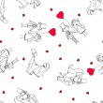 Wedding pattern seamless — Stock Vector