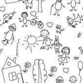 Child pattern seamless — Stock Vector