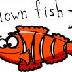 Cartoon clown fish — Stock Vector
