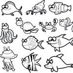Cartoon fishes — Stock Vector