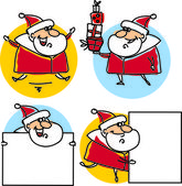 Set of cartoon santa claus — Stock Vector
