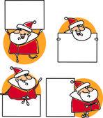 Set of cartoon santa claus — Stock Vector