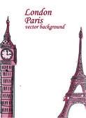 Travel, Paris, England — Stock Vector