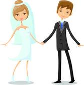 мультфильм свадебная фотография — Cтоковый вектор