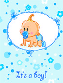 Card with baby boy — Stockvector