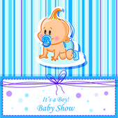 Card with baby boy — Stock Vector