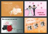 Wedding backgrounds — Stock Vector
