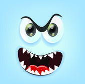 Cartoon angry face — Stock Vector