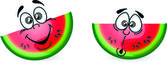Cartoon funny watermelon — Stock Vector