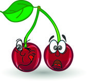 Cartoon cherries — Stock Vector