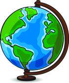 Cartoon school globe — Stockvector