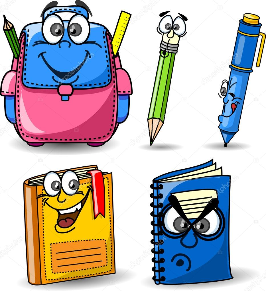 cartable  crayons  livres  cahiers  stylo image bag vector png bag vector photo