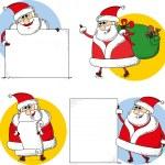 Set of cartoon santa claus — Stock Vector #41643369