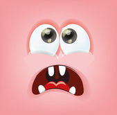 Cartoon face with emotion — Stock Vector