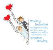 Foto de boda de dibujos animados — Vector de stock