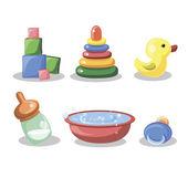 Cartoon children's accessories — Stock Vector