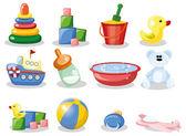 Nursery accessories — Stock Vector