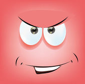 Cartoon funny face — Stock Vector