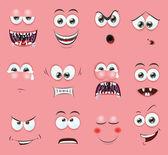 Duygu ile karikatür yüzler — Stok Vektör