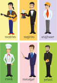 Characters of different professions — Vector de stock