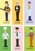 Characters of different professions — Stok Vektör