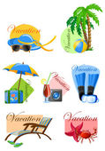 Vacation and travel background — Stock Vector
