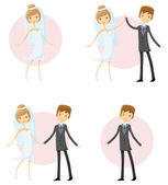 Wedding pictures — Stock Vector
