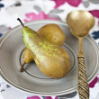 Royalty-Free Stock Photo: Pears and spoon