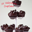 St. Valentines Day tree of cupcake — Stock Photo