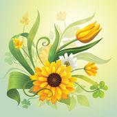 Yellow flowers — Wektor stockowy