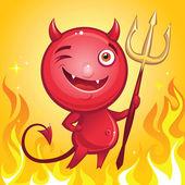 Comics character smiling devil — Stock Vector