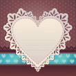 Heart frame. Valentine card. — Stockvector