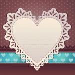 kalpli çerçeve. Sevgililer günü kartı — Stok Vektör