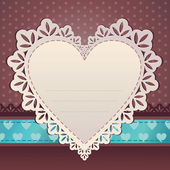 Heart frame. Valentine card. — Stock Vector