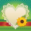 Royalty-Free Stock Vektorfiler: Heart frame. Valentine card.