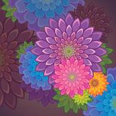 Summer flower background — Cтоковый вектор