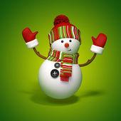 Snowman jumps — Stock Photo