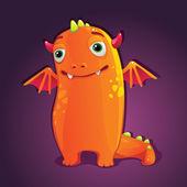 Halloween cute monster — Stock Vector