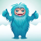 Scary monster yeti — Stock Vector