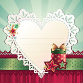 Heart shape greeting card — Stock vektor