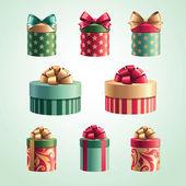 Weihnachtsgeschenke-set — Stockvektor