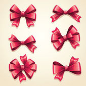 Bow ribbon set — Stock Vector