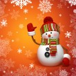 Snowman greeting — Stock Photo