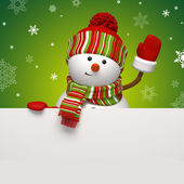 Snowman banner — Stock Photo