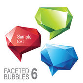Crystallized message banner set — Stock Vector